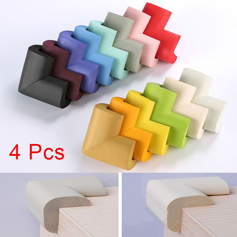 New 4x Baby Safe Desk Table Corner Gurads Security Cushion Anti-crash Protector Soft S7J ...