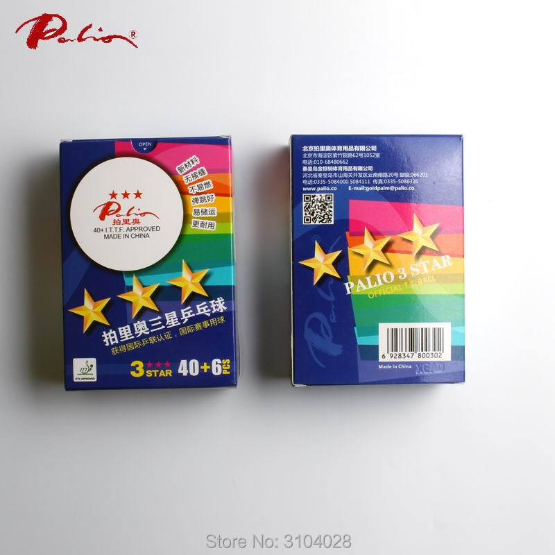 Palio official stars  table tennis balls new material ITTF approved durable