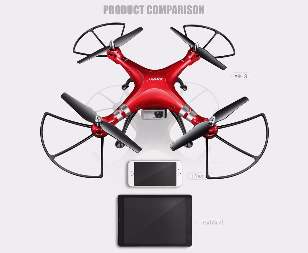 SYMA Professional UAV X8HG X8HW X8HC 2.4G 4CH RC Helicopter Drones 1080P 8MP HD Camera Quadcopter (SYMA X8C/X8W/ X8G Upgrade) 10