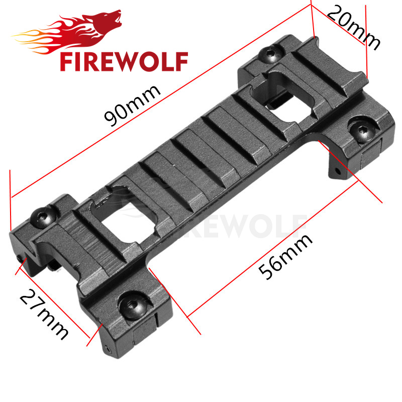 FIRE WOLF 20mm Picatinny Weaver Rail Laser Scope Mount Claw for Airsoft MP5 G3 Series Rail Bracket Clip Bracket