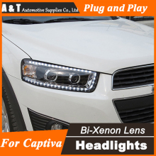 A&T Car Styling for Chevrolet Captiva LED Headlights New Captiva led DRL Lens Double Beam H7 HID Xenon Car LED Light