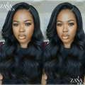 ZANA 7A Soft Brazilian Virgin Human Hair Wavy Wigs Lace Front Wigs with Baby Hair Full Lace Human Hair Wigs for Black Women