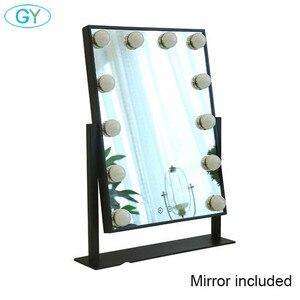 Image 1 - Miroir inclus, lampe de vanité tactile, lampe de table à intensité réglable, hollywood, pour maquillage et table lumineuse
