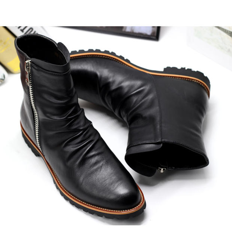 black leather dress boots page 1 - shoes