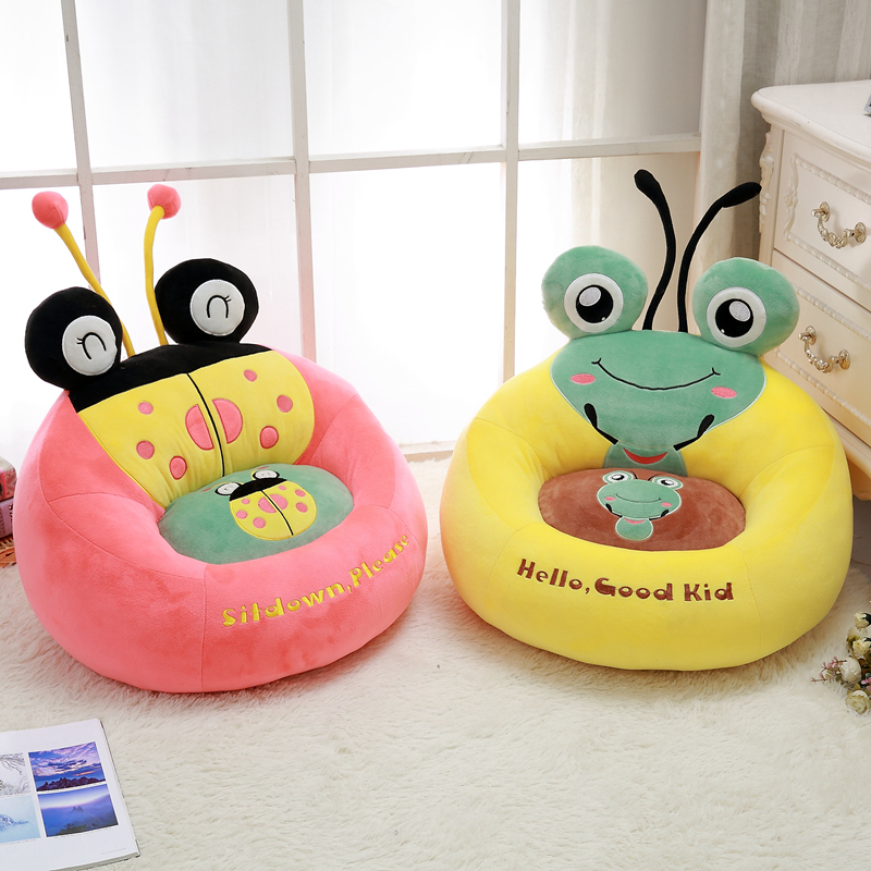 Cute Baby seat Plush ladybug Stuffed Animals Child frog Toys Birthday Christmas Gift plush doll Pillow 2018 huge giant plush bed kawaii bear pillow stuffed monkey frog toys frog peluche gigante peluches de animales gigantes 50t0424