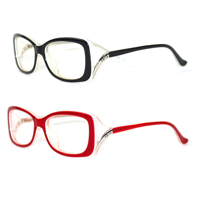 Fashion Women Eyeglasses Frame Vintage Myopia Black Glasses Red wine ...