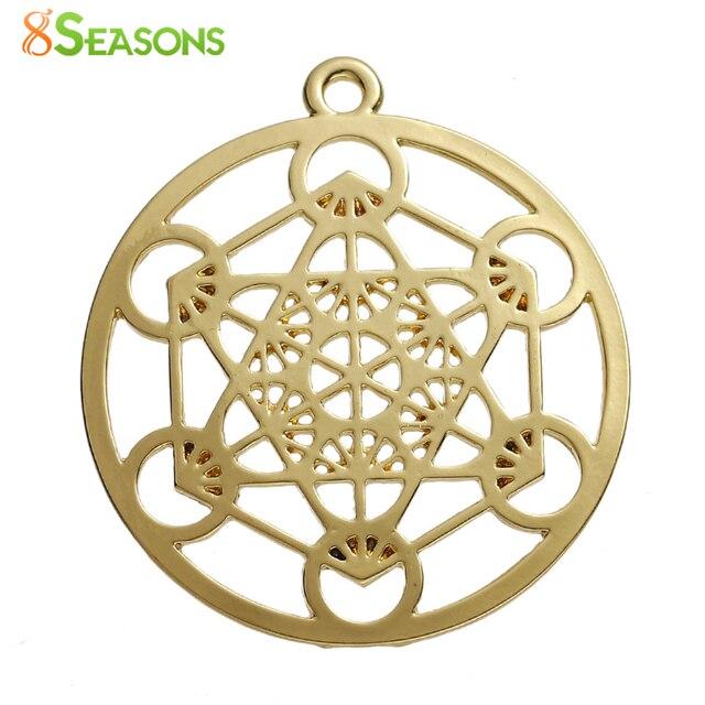 8seasons zinc based alloy merkaba meditation pendants round gold 8seasons zinc based alloy merkaba meditation pendants round gold color hollow 44mm1 6 aloadofball Gallery