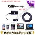 8mm de diâmetro endoscópio sem fio Wi-fi 1/2/3.5/5 M cabo mini câmera câmera IOS Android 6 LED endoscópio USB câmera de segurança
