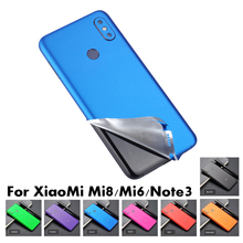 Blue Ice Surface for Xiaomi Mi 8 SE Mi 6 Note 3 Blue Back Film Protector Cover Sticker Color Paste Decorative Film Accessories