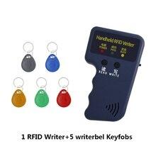 CHENGKA Handheld 125KHz EM4305 T5577 RFID Readers Writer Copier Programmer Duplicator  Writer Writable ID keyfobs Tags Card chengka handheld 125khz em4305 t5577 rfid readers writer copier programmer duplicator writer writable id keyfobs tags card