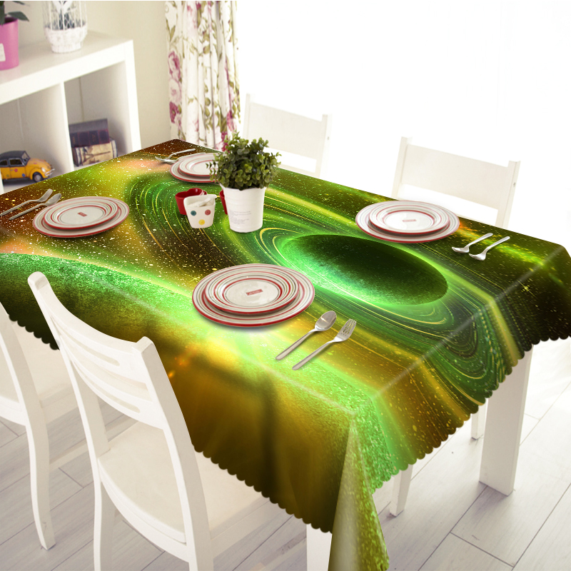 Merveilleux Customized Round Square Blue Green Galaxy Print Luxury Decorative 3D Table  Cloth Dinner Table Cloth Cover Polyester Fabric In Tablecloths From Home U0026  Garden ...