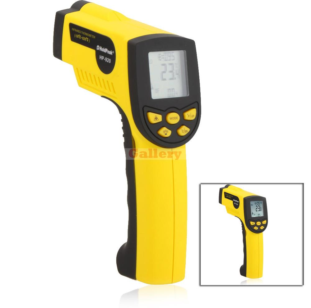 Holdpeak Hp-920 Non Contact 16 1 Digital Infrared Ir Thermometer Laser Temperature Gun Sensor Meter Range 50 920 C uyigao ua1750 authorized non contact digital laser infrared temperature gun thermometer