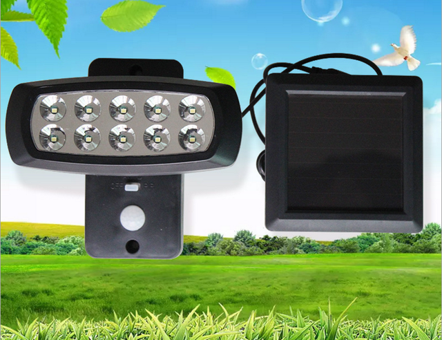 Solar powered led street light outdoor lighting 10 led solar sensor solar powered led street light outdoor lighting 10 led solar sensor light emergency wall lamp security mozeypictures Gallery