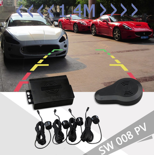 Dual Core Visual Car Parking Sensor Reverse Backup Radar for LCD  DVD Monitor 22mm Sensor Parktronic For Video Parking sensors