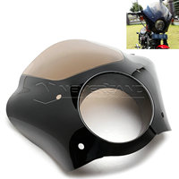 For Harley XL 1200 883 Black Gauntlet Headlight Fairing W Trigger Lock Mount Kit Wholesale D15