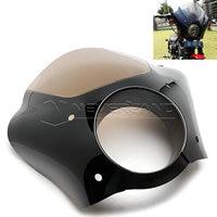 For Harley XL 1200 883 Black Gauntlet Headlight Fairing W Trigger Lock Mount Kit Wholesale D15