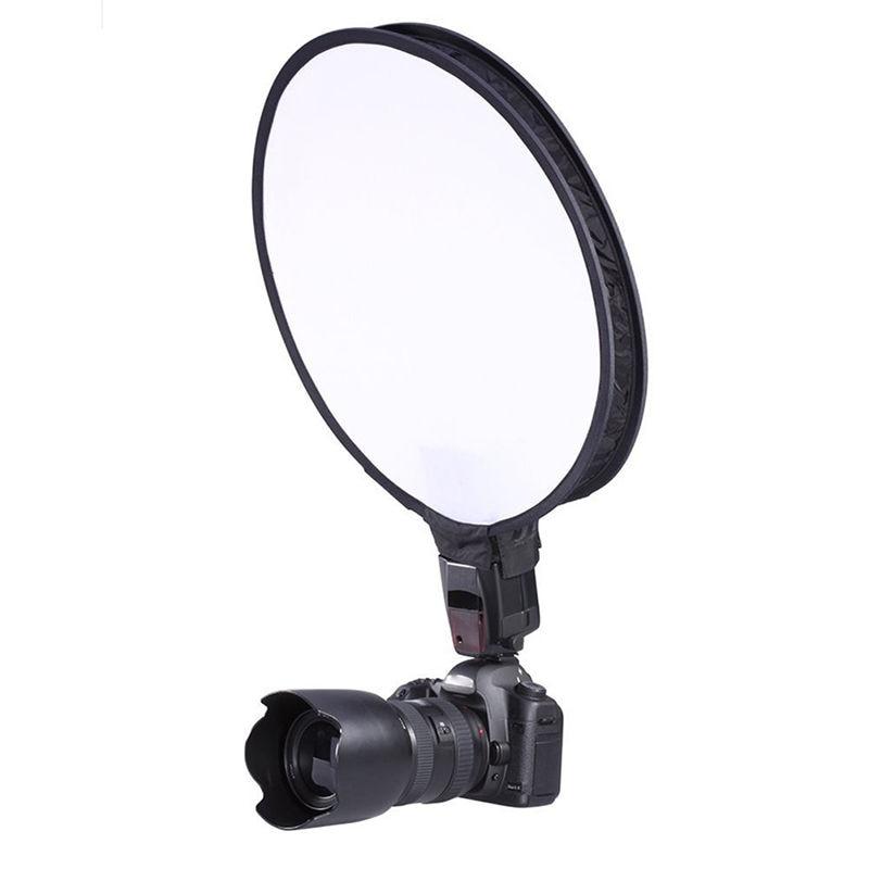 цена на Camera & Photo Accessories 40cm Round Disc Softbox Flash Diffuser For Camera Flash Speedlite Speedlight Mayitr