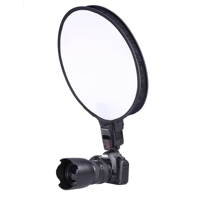 Máy Ảnh & Ảnh Phụ 40 cm Vòng Disc Softbox Flash Diffuser Cho Máy Ảnh Flash Speedlite Speedlight Mayitr