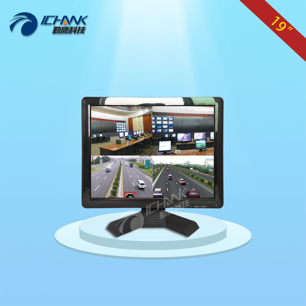 B190JN-B4V/19 inch BNC interface monitor/19 inch four split screen monitor/Wall-hang security monitoring remote control monitor;