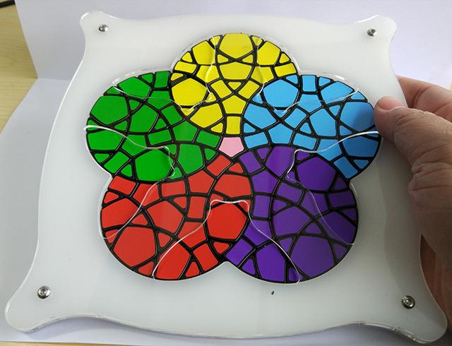 Geranium Brand New VeryPuzzle V versão Magic Cube Enigma Em Estoque de Alta Qualidade de Edição Limitada Brinquedos Educativos Transporte Da Gota