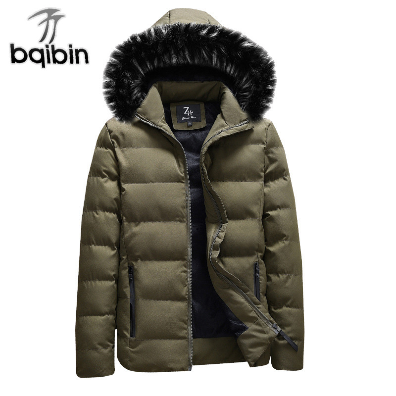 New Cotton Hooded Winter Jacket Men Thicken Warm Fur Hooded Coats Casual Down Parka Outwear Male Brand Clothing