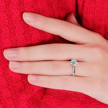 Big Super Shiny Cubic Zircon Finger Rings Hot Sell New Fashion 925 Sterling Silver Women Bridal Wedding Prefect Present 3