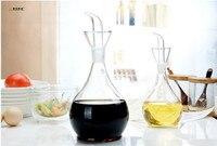 1PC LONGMING HOME New Large Capacity Eco Friendly Oil And Vinegar Bottle Olive Oil Glass Bottle