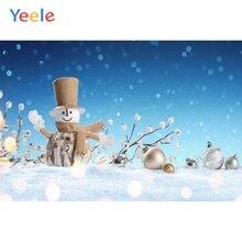 Yeele Christmas Balls Photocall Bokeh Light Snowman Photography Backdrops Personalized Photographic Backgrounds For Photo Studio
