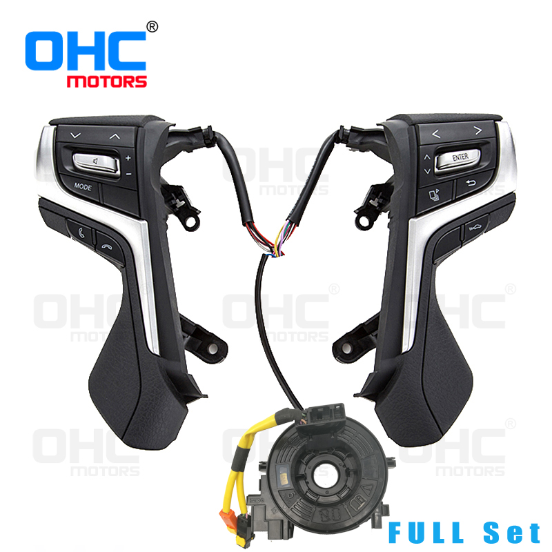 Premier Quality Steering Wheel Switches buttons for Toyota Lander Cruiser / New Lander Cruier Prado / Crown Motors OE Quality steering wheel spiral cable clock spring for toyota aristo crown 84306 30030 8430630030
