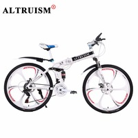 Altruism Mountain Bike Folding Bicycles For Mens Unisex Boys Girls X9 21 Speed 26 Inch Steel