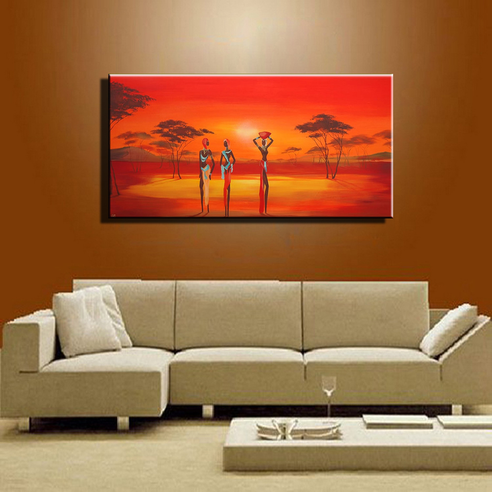 Online buy wholesale african art painting from china for Modern wall paintings living room