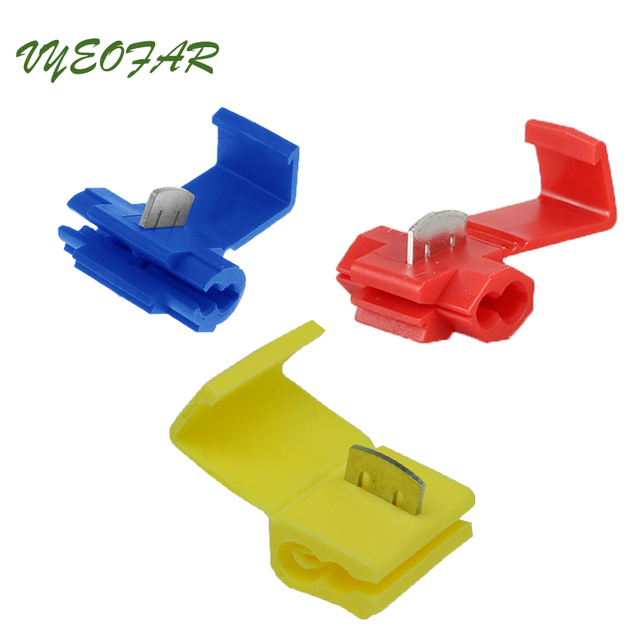 30pc Electric Wire Spade Terminals Splice Crimp Terminal Wire Connector 10 22 Awg Gauge 0 5