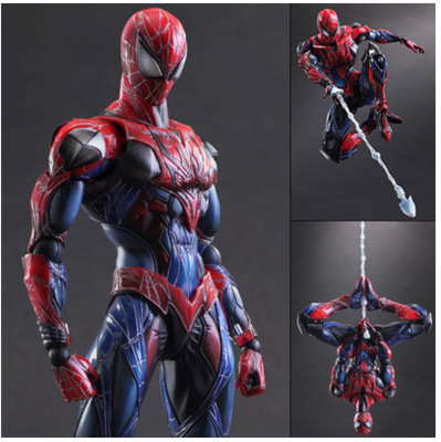 Spiderman Action Figure Play Arts Kai Spider Man 250MM Anime Model Toys Superhero Playarts Spider-Man spiderman action figure play arts kai spider man 250mm evil version anime superhero playarts spider man model toy