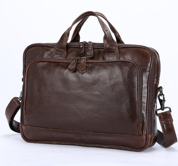 2017 Neuen Männer Aus Echtem Leder Casual Business Aktentasche Multifunktionale Taschen Messenger Männer Schulter Crossbody Laptop Handtasche