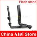 Camera flash light stand suporte de metal titular mouting duplo L yn460 yn 560III sb900 sb800 sb700 sb600 430ex 580ex acessórios