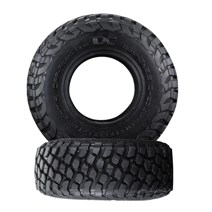 2Pcs 2.2inch Rubber Tires & Sponge liner For Traxxas Trx-4 Trx4 T4 D90 D110 Axial Scx10 90046 90048 1/10 RC Crawler Car mxfans rc 1 10 2 2 crawler car inflatable tires black alloy beadlock pack of 4