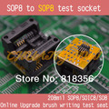 IC TEST Detect FLASH BIOS Online Upgrade brush writing test seat 208mil sop8 to sop8 test socket soic8/so8/sop8