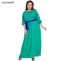 Summer 5XL 6XL Plus Size Chiffon Floor Length Long Dresses 2017 Women Floral Lace Clothing Elegant