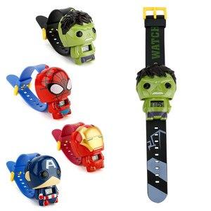 الأطفال ووتش باتمان الكابتن أمريكا الاطفال الساعات Nijago Hulkbuster الرجل الحديدي سبايدرمان لعبة للأطفال ووتش فتاة الصبي