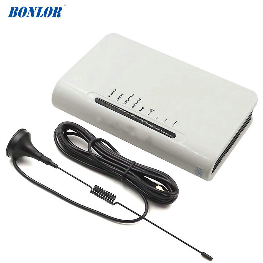 BONLOR Gsm vaste draadloze terminal/gsm gateway voor aansluiten desktop telefoon of alarmsysteem, gratis verzending