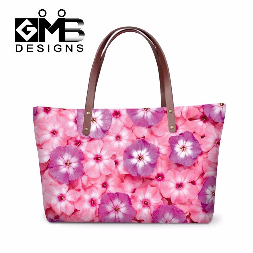 728efec529d4 Pink Flower Summer Handbags for Girls beautiful hand bags New Look Over the  Shoulder Bag Women Ladies Casual Rose Large Tote Bag