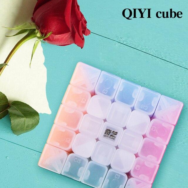 QIYI personalize 2x2x2 Jelly Stickerless Puzzles cube 3x3x3 magic speed qiyi cubes 4x4x4 cube 5x5x5 qiyi cube educational toys 2