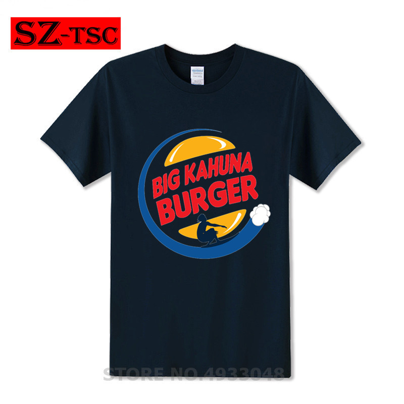 Hip Hop T shirt 2018 Movie Big Kahuna Burger Pulp Fiction T shirt Men loose shirt white Streetwear modal summer Casual Top Tee in T Shirts from Men 39 s Clothing