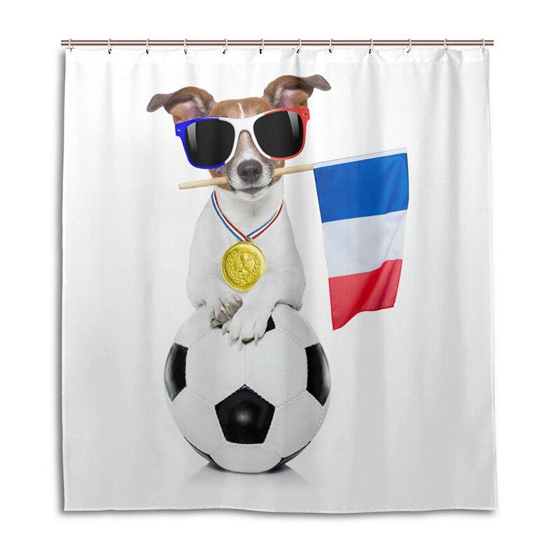 Leuk Frankrijk 2018 World Champions Douchegordijn 100% Polyester Waterdicht Bad Gordijn Schimmelbestendig Badkamer Gordijn Verkwikkende Bloedcirculatie En Stoppen Van Pijn