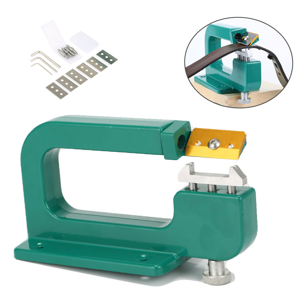 Craft Leather Paring Machine Edge Skiving Leather Splitter Skiver Peeler 30mm Tools with Free 13 Pcs Accessories DC112