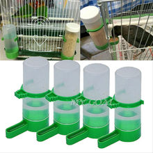 4Pcs Bird Pet Drinker Food Feeder Waterer Water Bottle for Budgie Aviary Cage