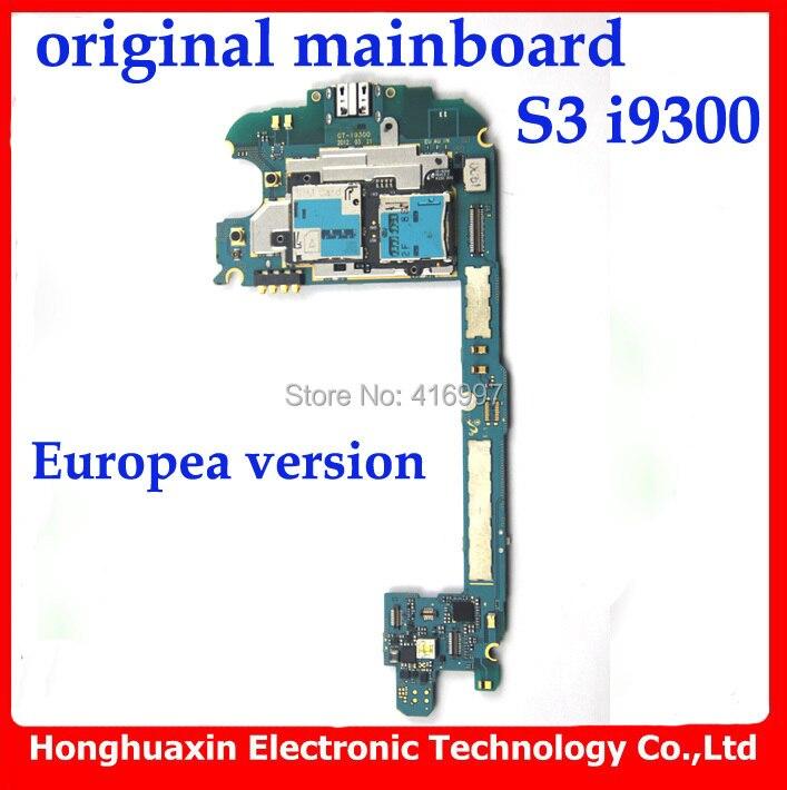 imágenes para 100% versión Europea de trabajo mainboard original para Samsung Galaxy S3 i9300 desbloqueado Placa Base 16 GB buena calidad libera el envío