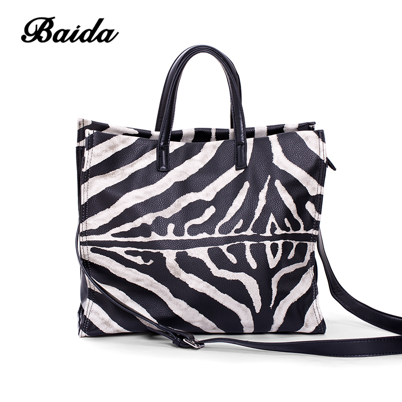 BAIDA brand handbag women leather bag female satchels shoulder bags high quality leather tote bags купить недорого в Москве