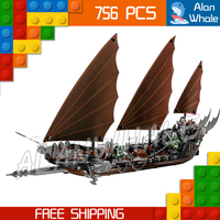756pcs Lord of the Rings Pirate Ship Ambush 16018 DIY Model Building Kit Blocks Gifts Children Toys bricks Compatible With lego