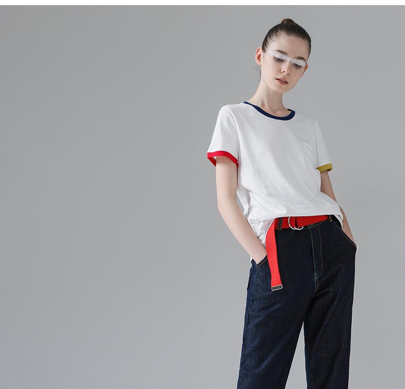 HTB1QBNgPFXXXXbQXXXXq6xXFXXXr - T Shirt Women Short Sleeve O-Neck Cotton